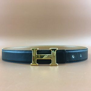 Preowned Hermès 32mm Classic H Reversible Belt